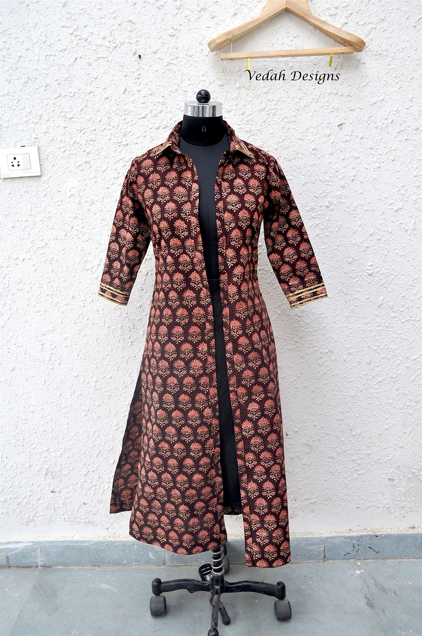 Long woman shirt Indian clothing Long dress Shrug womens clothing