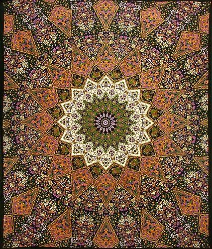 Sunshine Joy Indian Dark Star Elephants Tapestry – 85×100 – Beach Sheet – Hanging Wall Art – 3D Reactive Artwork