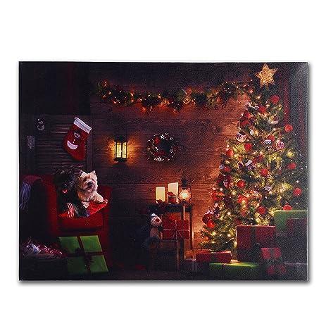 Amazon nikky home decorative christmas tree and dog led lighted nikky home decorative christmas tree and dog led lighted wall art prints canvas prints aloadofball Gallery