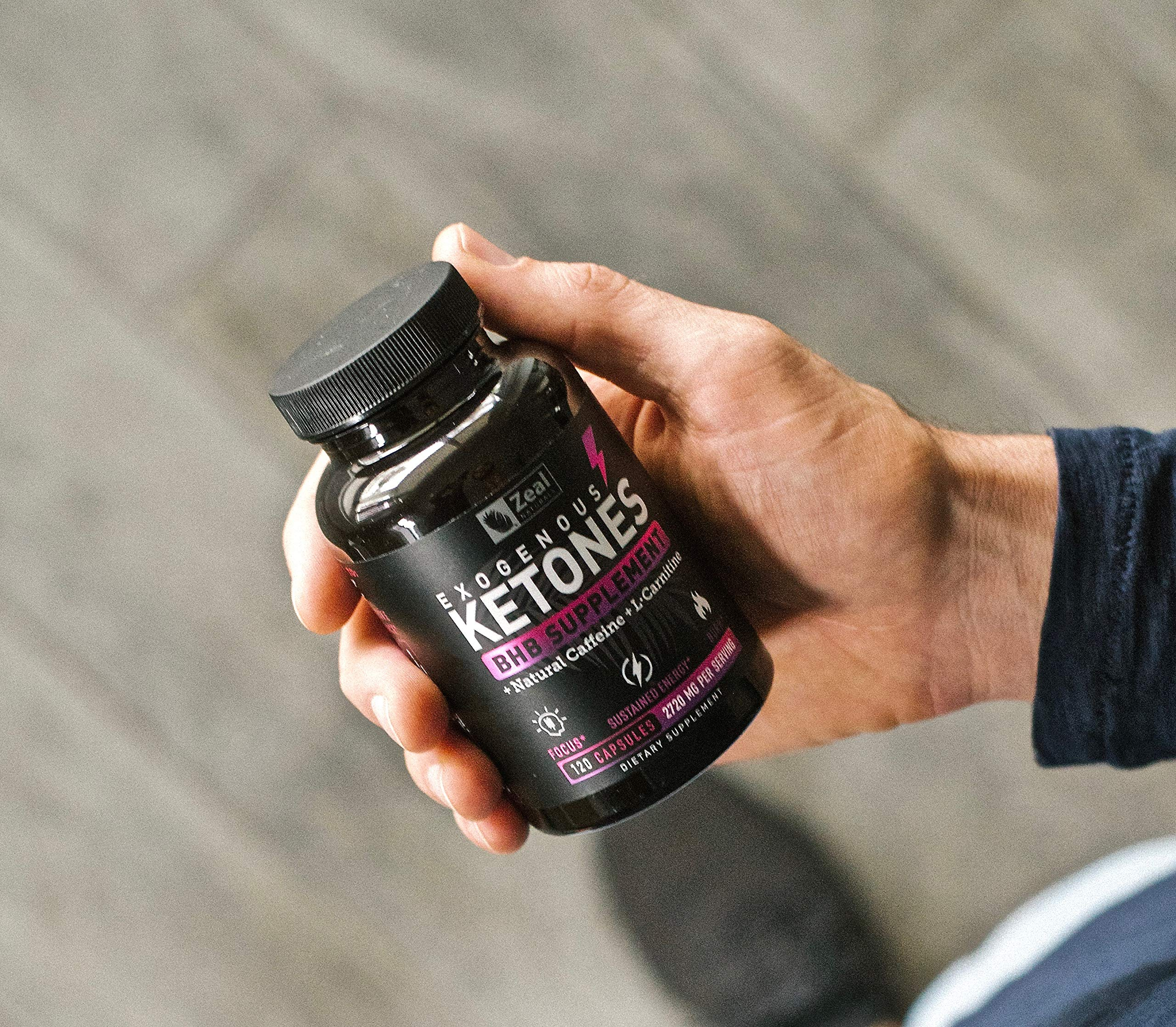 Keto BHB Exogenous Ketones Pills (2720mg | 120 Capsules) Keto Pills w. goBHB Salts, Natural Caffeine & L-Carnitine - Keto BHB Oil Capsules Beta Hydroxybutyrate for Weight Loss Keto Vitamins Keto Salts by Zeal Naturals (Image #9)