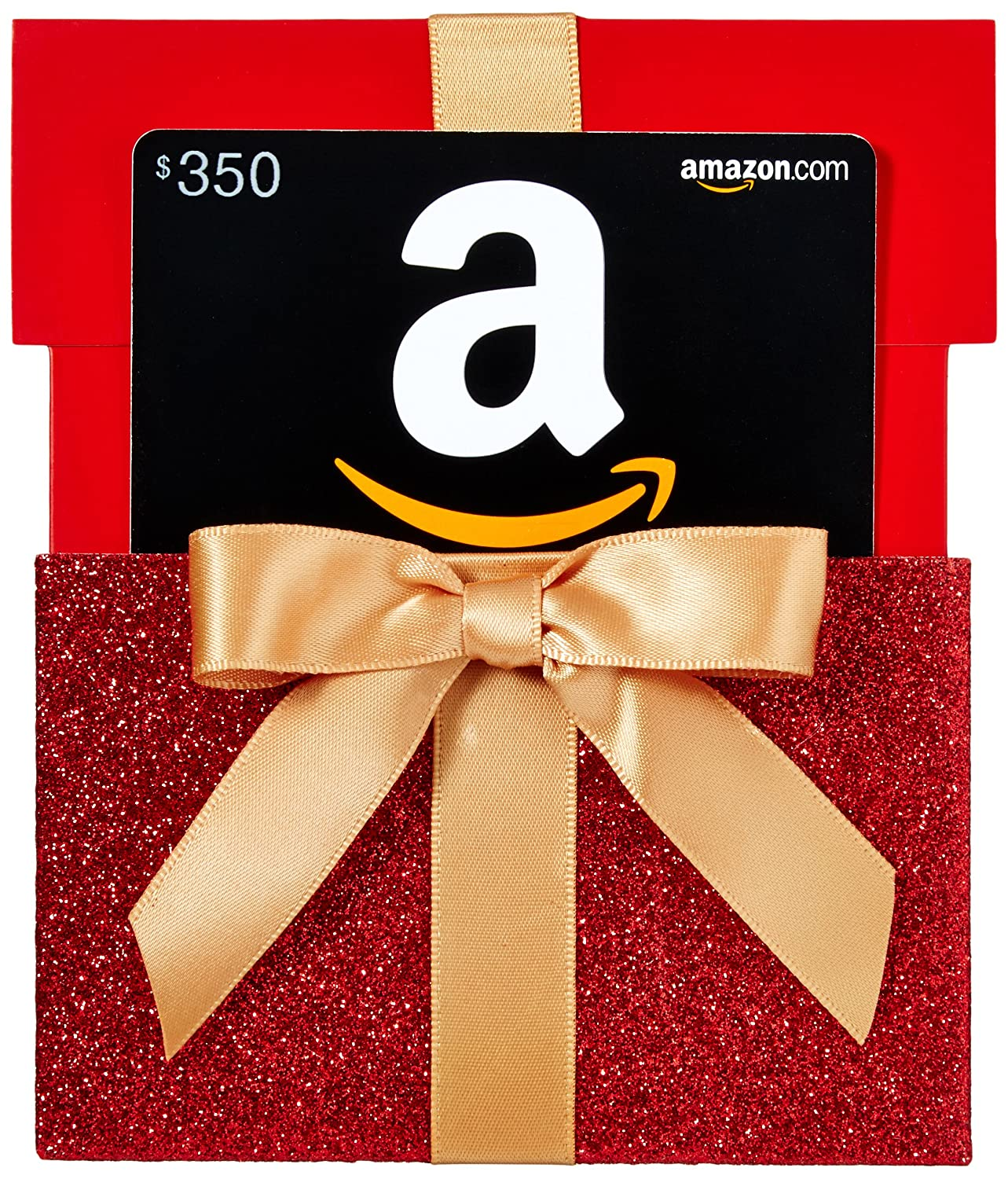 Amazon.com Gift Card in a Red Gift Box Reveal VariableDenomination