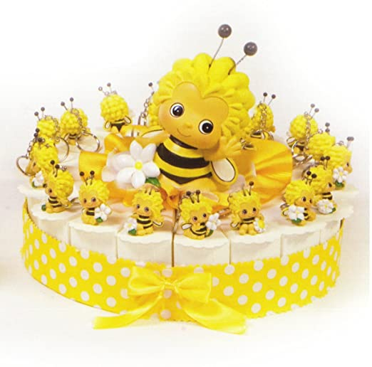 Tarta Bomboniere 18 porciones de tarta con abeja amarilla ...