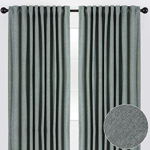 Deal of the week: Chanasya 2-Panel Two Color Tone Textured Heavy Curtains
