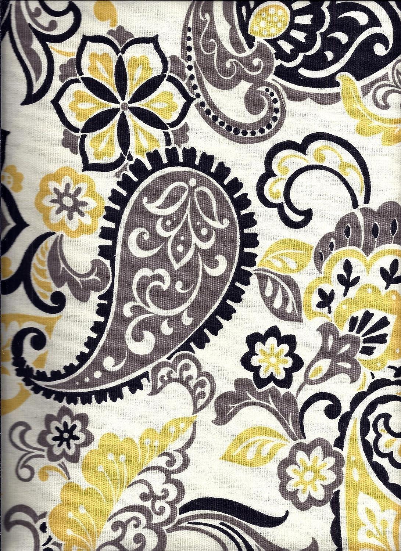 Paisley Valance Black and Yellow