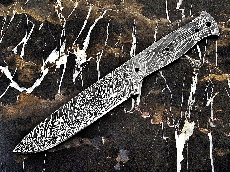 ColdLand Knives 10 Custom Handmade Damascus Steel Bushcraft Blank Blade Knife Making Supplies SB85