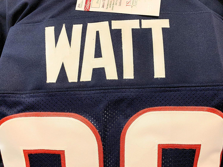 JJ Watt Houston Texans Signed Autograph Blue Custom Jersey WATT Hologram JSA  Witnessed Certified at Amazon s Sports Collectibles Store 11111b0d5