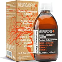 NEUROASPIS plp10 Tuna Fish Oil Omega 3 Liquid (EPA DHA Supplement 4950mg), Borage Oil Omega 6 (LA GLA 4950mg), Vitamin A (Beta Carotene), Vitamin E Mixed Tocopherols, Heart Health and Brain Supplement