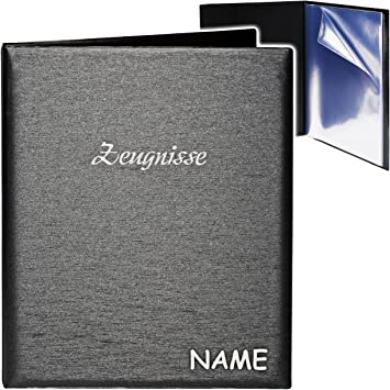 Zeugnismappe Zeugnisringbuch Zeugnisse /_ Metallic Effekt Dokumentenmappe