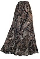 LADIES LONG 100% CRINKLE COTTON TIERED HIPPY BOHO GYPSY SKIRT WITH INTERNAL PETTICOAT