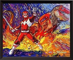 Uhomate Superhero Mighty Morphin Power Rangers Wall Decor Vincent Van Gogh Starry Night Posters Home Canvas Wall Art Print Baby Gift Nursery Decor Living Room Wall Decor A080 (8X10)