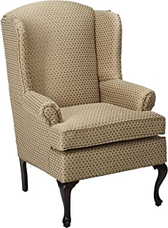 Beau Serta Upholstery 2200WBC 2200WBC09 Traditional Style Wing Back Chair In  GT3, Pewter
