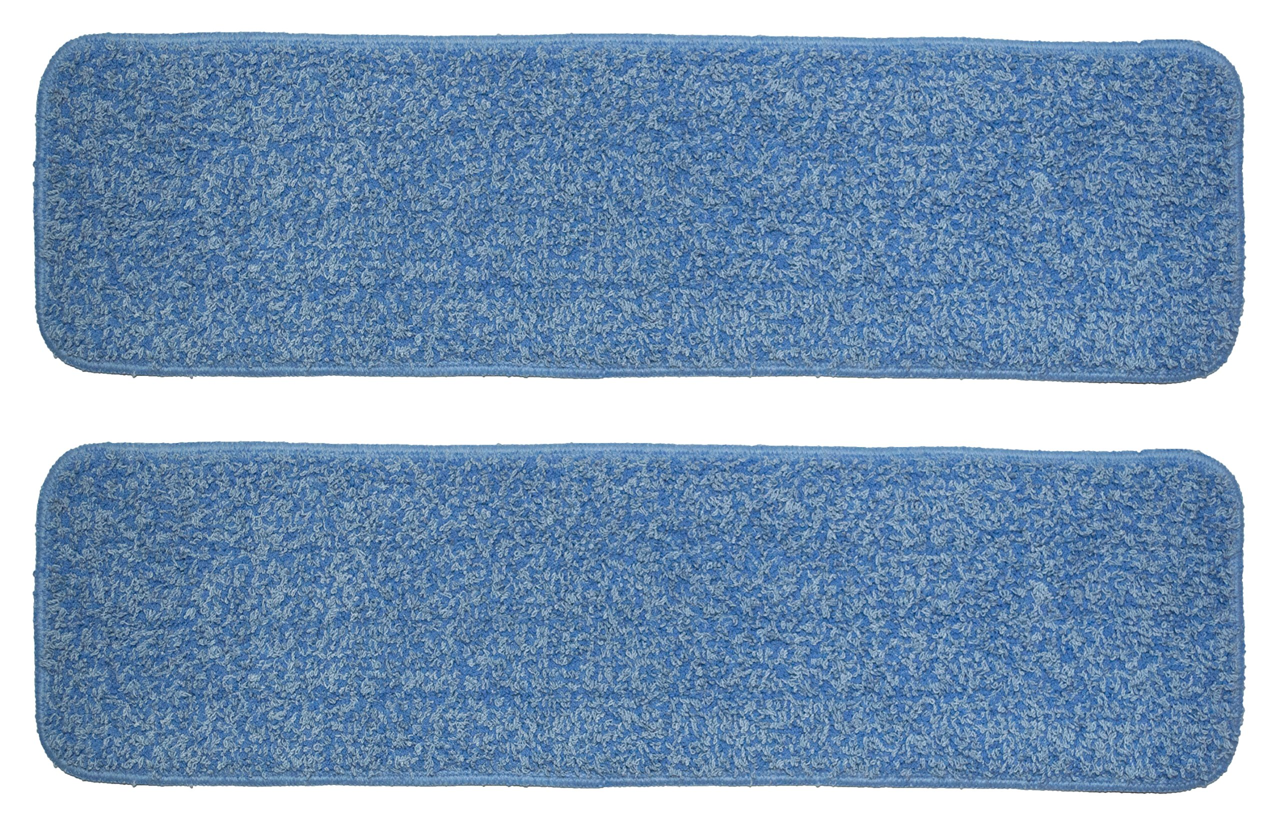 Nine Forty 36 Inch Microfiber Wet or Dry Flat Hardwood Floor Dust Mop Head Refill | Replacement Pads | Washable Industrial Commercial Supplies (2 Pack) by Nine Forty
