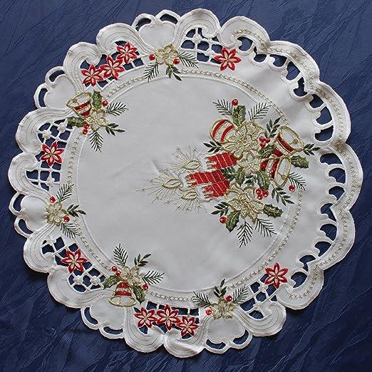 Mantel de Navidad Camino de mesa Mantel de mesa Deck Chen con ...