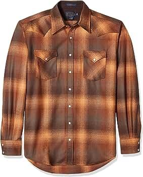 Pendleton - Camiseta de manga larga para hombre - Marrón - XXX-Large Alto: Amazon.es: Ropa y accesorios