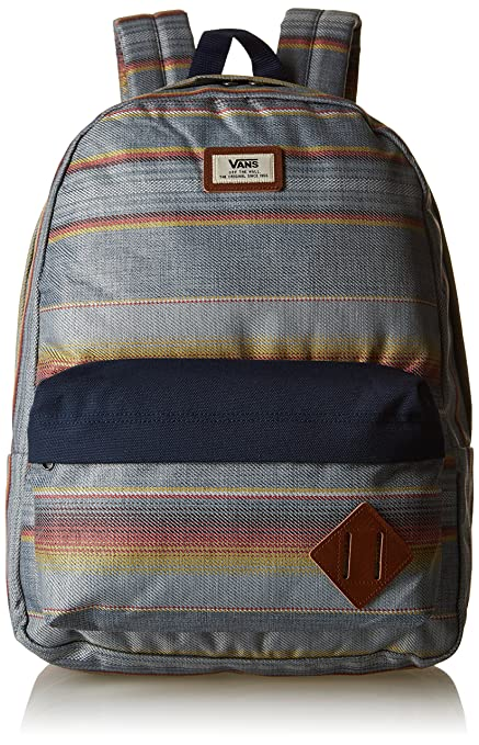e529cc63a9e78 Vans Old Skool II Backpack – 42 cm 22 Litre Blue Mirage Rockaway Stripe   Amazon.co.uk  Luggage
