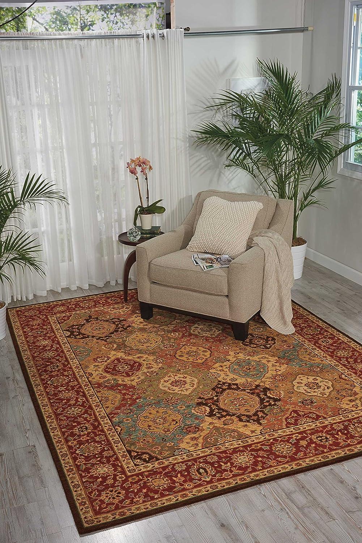 Franela para el Interior el Dormitorio o la habitaci/ón de los ni/ños LB HC03 100 x 100 cm para el sal/ón Multi 19 Alfombra Redonda Suave y Lavable