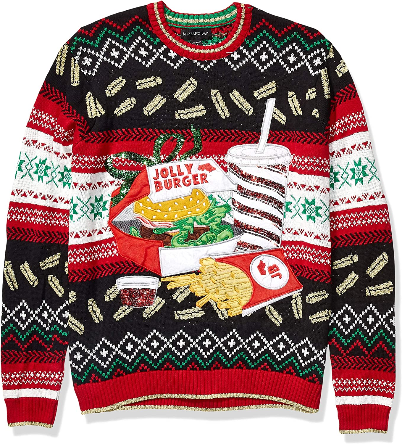 Blizzard Bay Men's Ugly Christmas Sweater Food