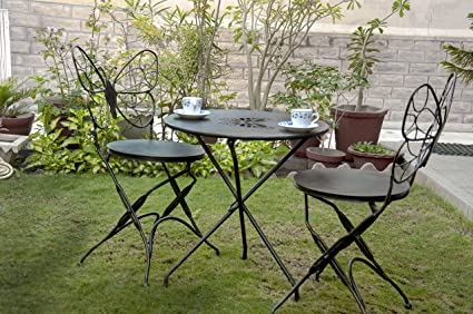 Matchless Folding Butterfly Shape Outdoor Folding Chair & Table Set For Outdoor Garden Patio Balcony And Garden Or Patio Area