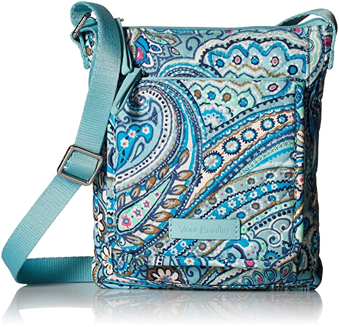 Vera Bradley womens Iconic RFID Mini Hipster, Signature Cotton, Daisy Dot Paisley, One Size best RFID travel purses