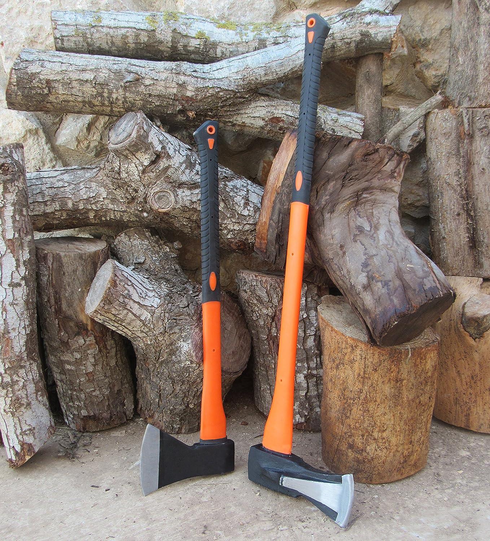 J55A. Splitting Axe, 32 Handle Wood Splitting Maul with Strong Fiberglass Handle and Anti-Slip Grip TABOR TOOLS Splitting Axe