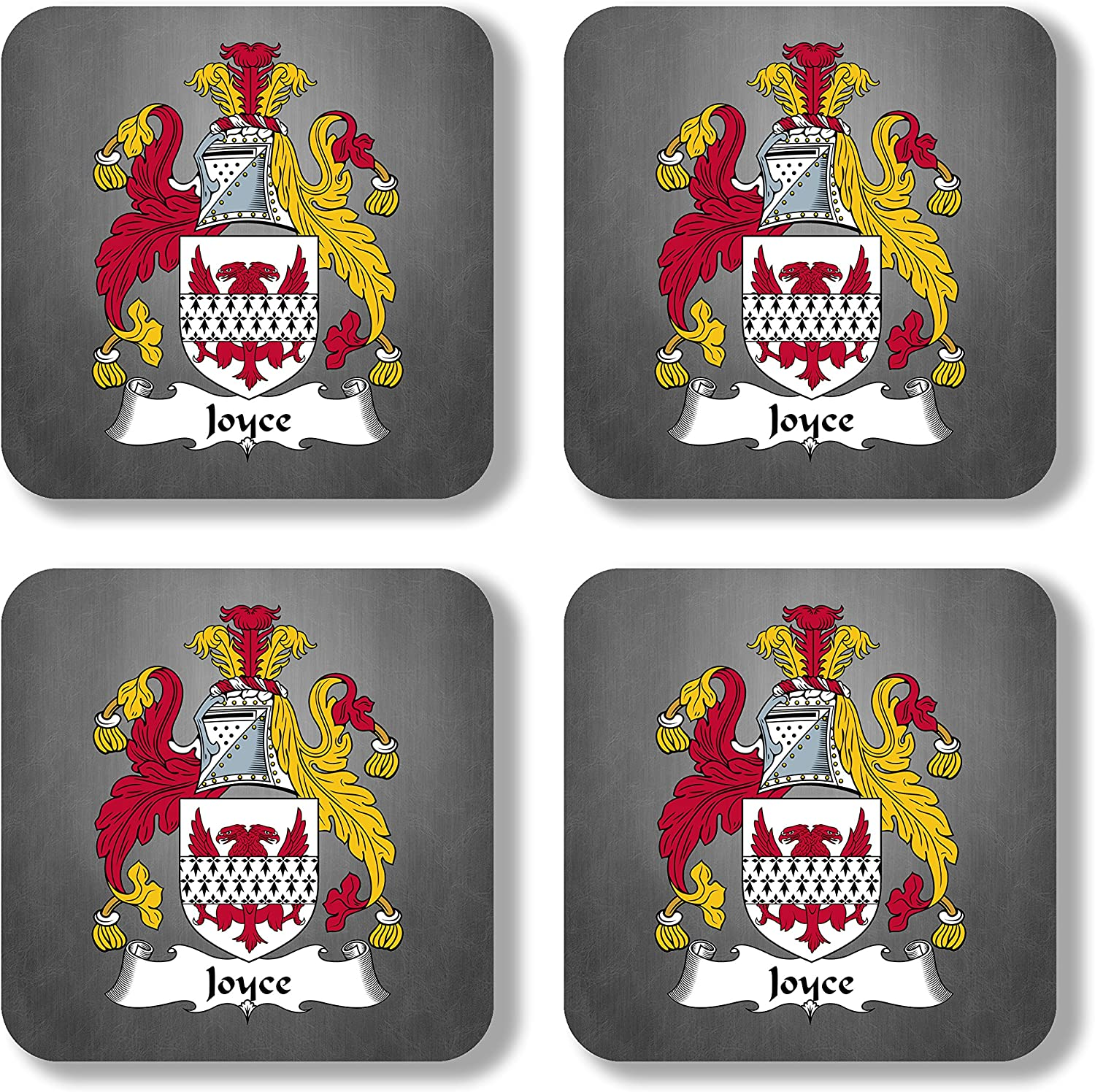 Joyce Coat of Arms/Family Crest Coaster Set, by Carpe Diem Designs – Made in the U.S.A.
