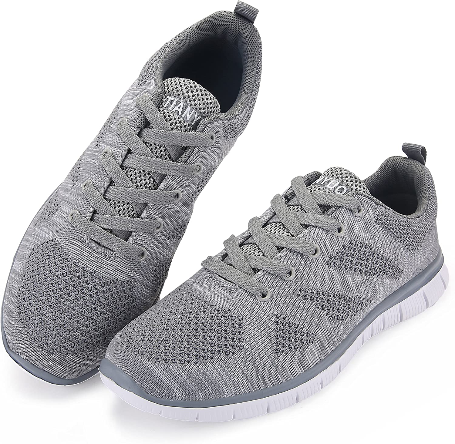 vibdiv Mens Lightweight Athletic Sneakers Lace-Up Mesh Distance Running Shoes