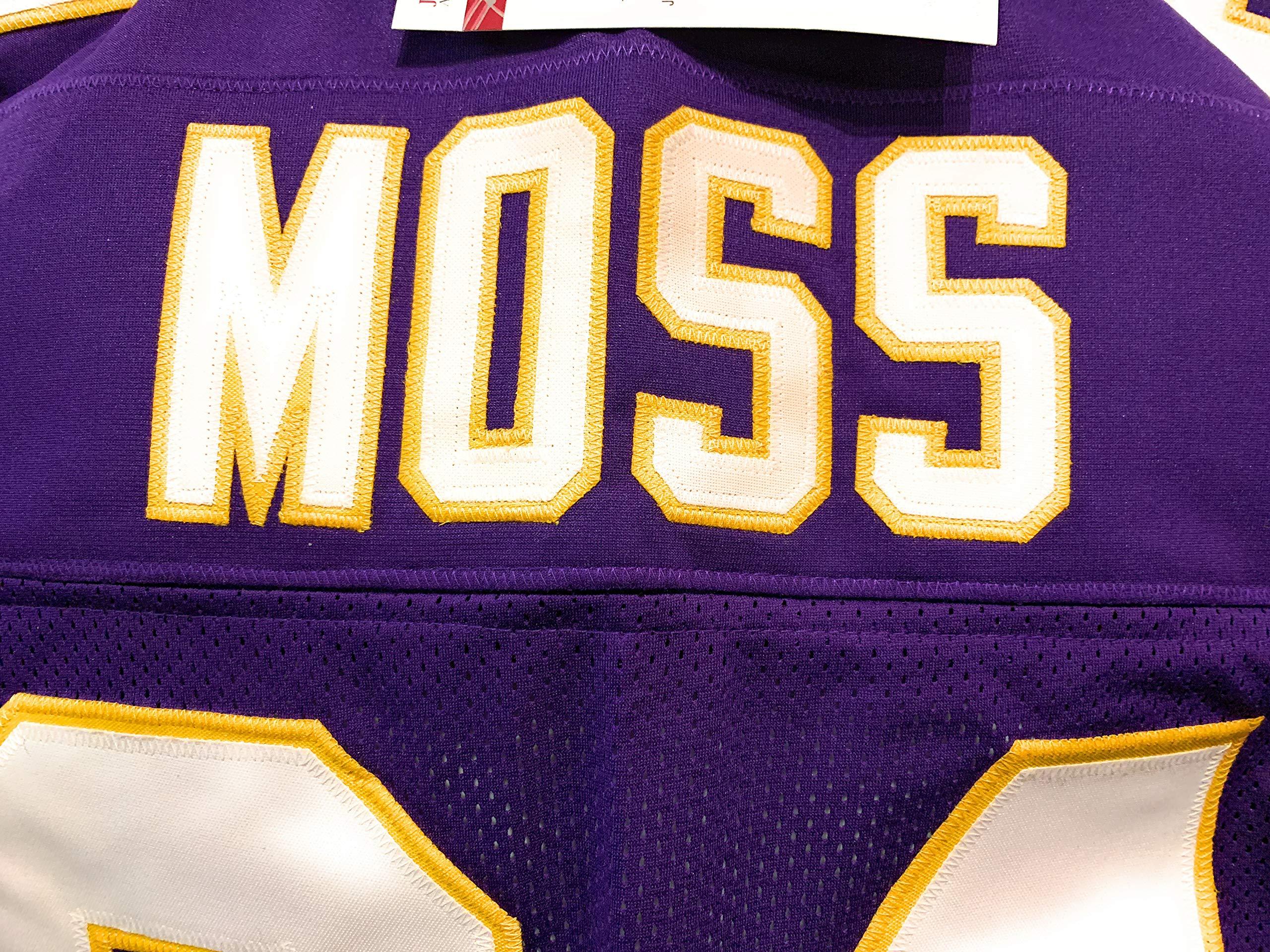 Randy Moss Minnesota Vikings Signed Autograph Custom Purple Jersey JSA Witnessed Certified