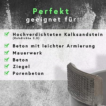 Stein Diamant Dosensenker 82mm perfekt f/ür Steckdosen Mauerwerk uvm Dosenbohrer f/ür Beton Rendech/® Bohrkrone 82mm in Profi Qualit/ät