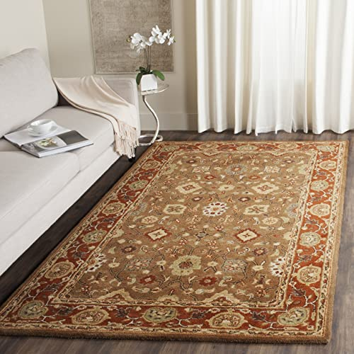 Safavieh Heritage Collection HG952A Handcrafted Traditional Oriental Moss and Rust Wool Area Rug 8 3 x 11