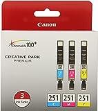 Canon CLI-251 CYAN,MAGENTA,YELLOW Ink, Compatible to MX922,MG7520,MG7120,MG6620,MG5620,iP8720,MG6420,MG6320 and MG5420