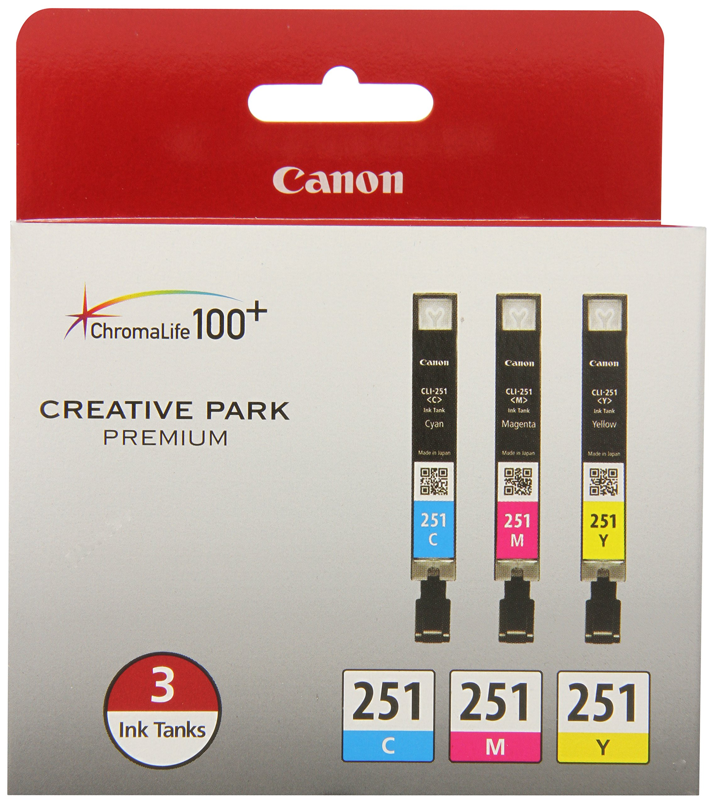 Canon CLI-251 CYAN,MAGENTA,YELLOW Ink, Compatible to MX922,MG7520,MG7120,MG6620,MG5620,iP8720,MG6420,MG6320 and MG5420