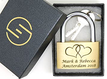 Personalized Your Picture Heart Padlock Romantic Anniversary Wedding Gift