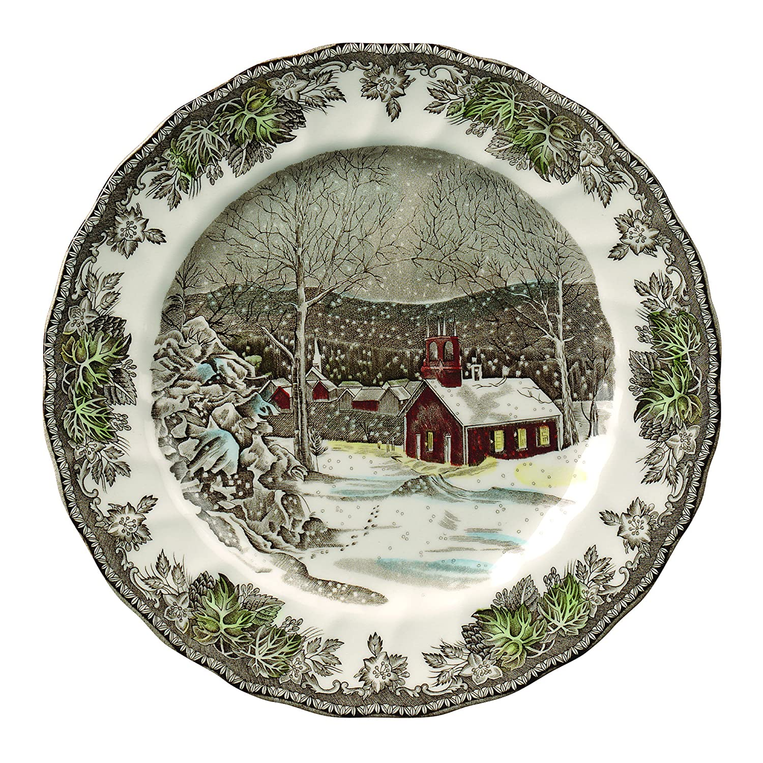 Amazon.com | Johnson Brothers Friendly Village 10-Inch Dinner Plate ...