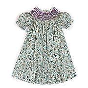 25403439c Babeeni Baby Girls Smocked Floral Bishop Dress (6M)