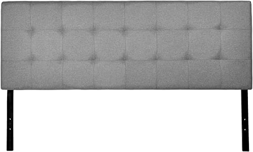 AmazonBasics Faux Linen Upholstered Tufted Headboard