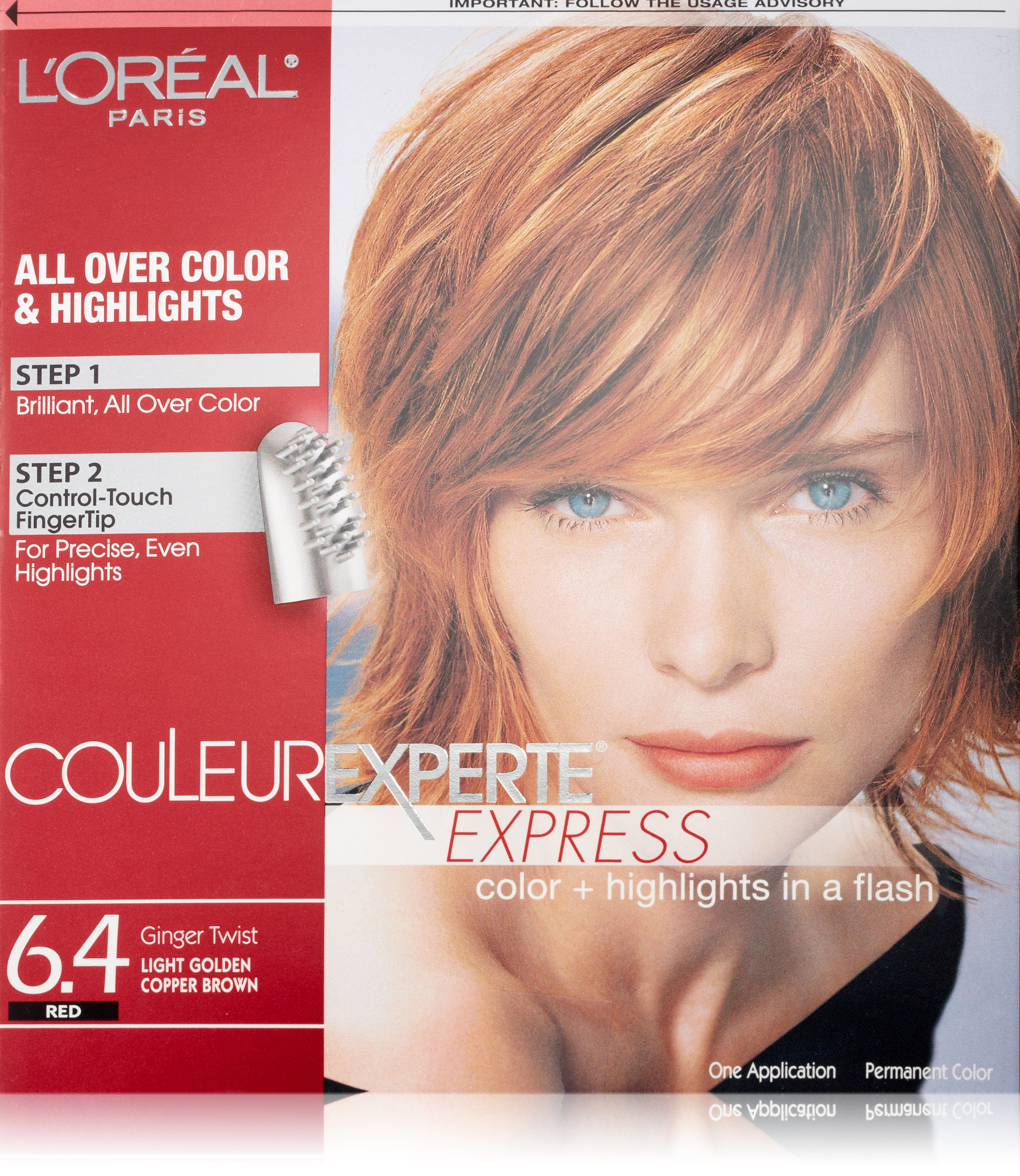 L'Oréal Paris Couleur Experte Hair Color + Hair Highlights, Light Golden Copper - Brown Ginger Twist