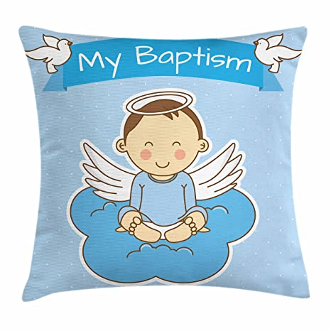 Amazoncom Religious Throw Pillow Cushion Cover By Lunarable Baby
