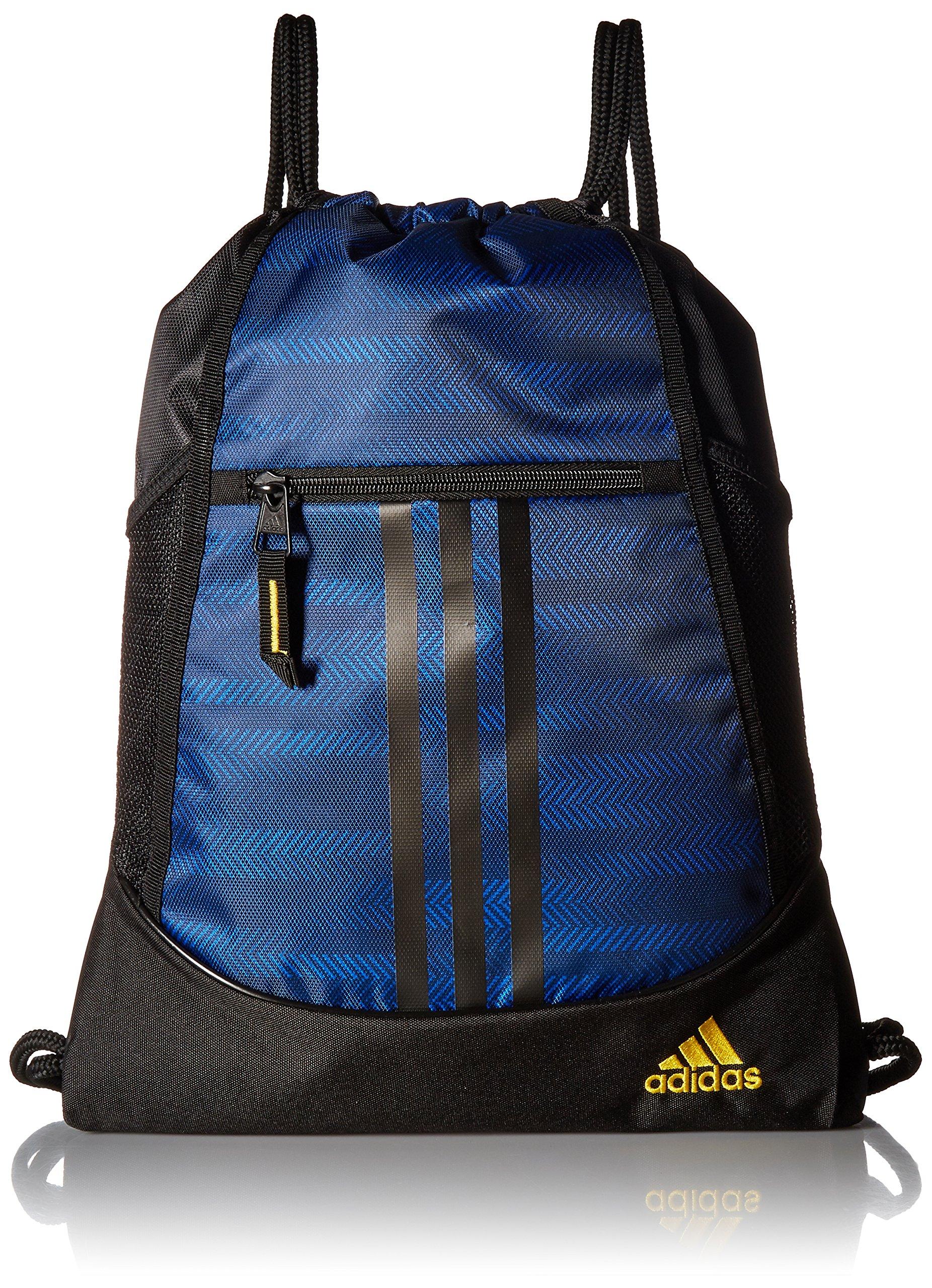 adidas Alliance II Sack Pack, One Size, Blue Ratio/Black/Equatorial Yellow