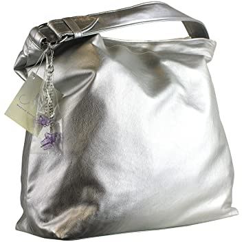 8e8d8813e5 Image Unavailable. Image not available for. Color  Mariah Carey Large Grey  Silver Slouch Shoulder Bag with Butterfly Charms