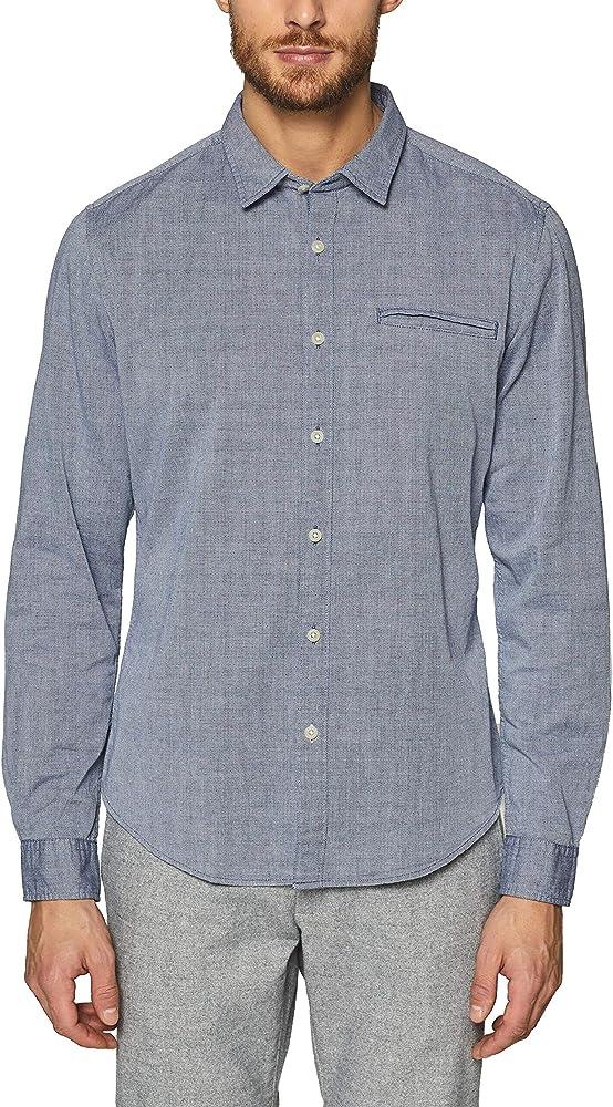 Esprit 128ee2f002 Camisa, Azul (Navy 400), Medium para Hombre: Amazon.es: Ropa y accesorios