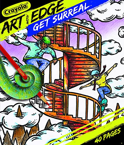 Amazon Com Crayola Get Surreal Coloring Pages Get Surreal Toys Games