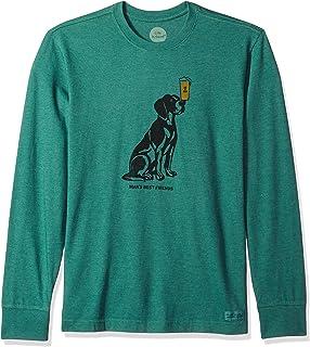 11a784ea5173 Life is Good Men's Crusher Long Sleeve Men's Best Friend Htfrgr T-Shirt,