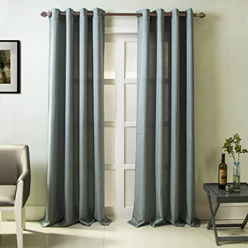RT Designers Collection, Wedgewood Madrid Textured 54 x 84 in. Grommet Single Curtain Panel
