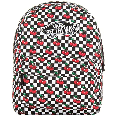 d480161dcb Vans Realm Backpack Black White Cherry Checker  Amazon.it  Sport e ...