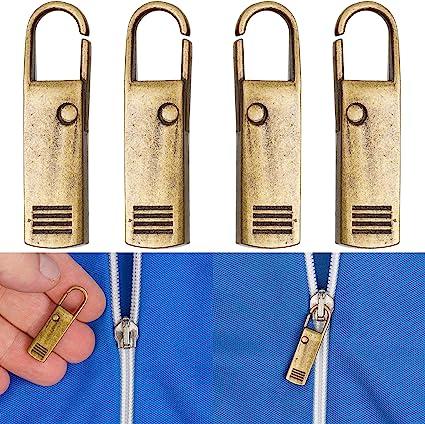 Reißverschluss Anhänger Metall silber masiv Glanz gewölbt pendant for zipper