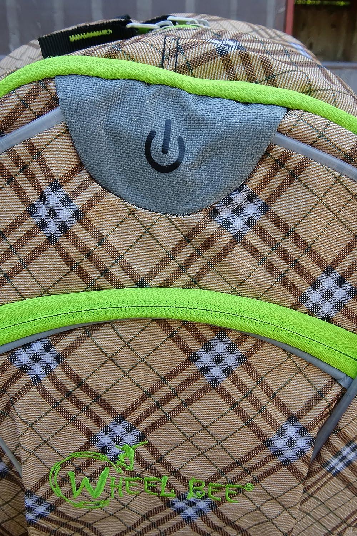 Schildkr/öt Fun Sports Wheel Bee Backpack avec innovantes /Éclairage LED int/égr/é et Bandes r/éfl/échissantes suppl/émentaires Sac /à Dos