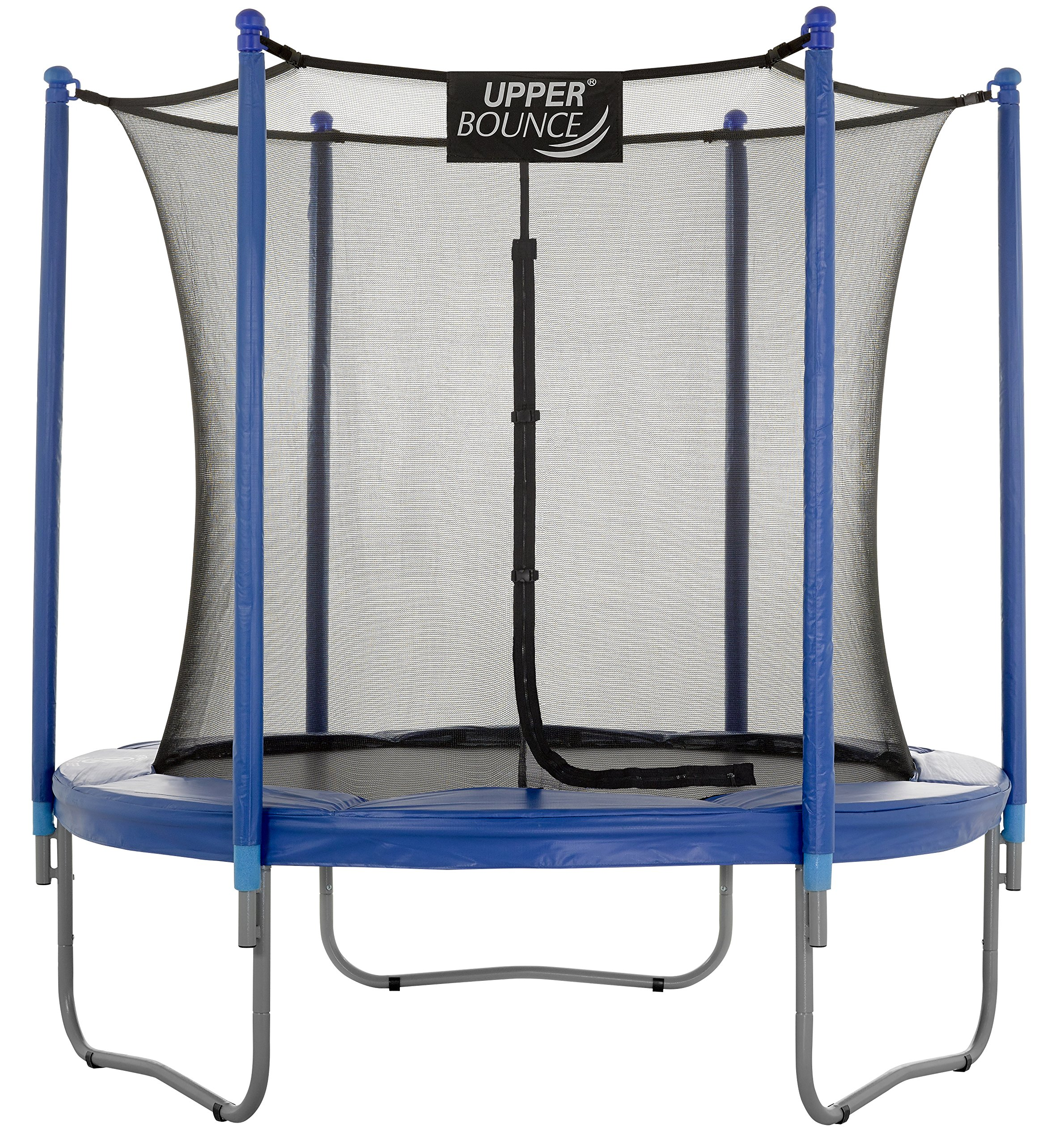 Upper Bounce 7.5 FT. Trampoline & Enclosure Set equipped with the New ''EASY ASSEMBLE FEATURE''