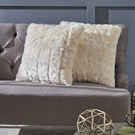 Amazon.com: LARAINE peludo Glam blanco manta de piel ...