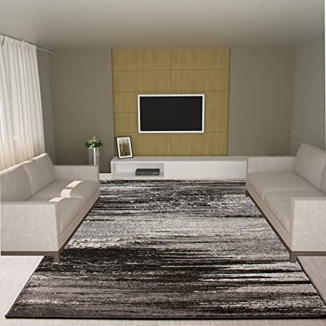 Dark Gray Rug Modern Contemporary Design 9 6quot X 13 2quot