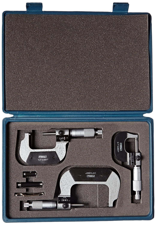 Ratchet thimble Fowler Full Warranty 0-3 Digit Counter Micrometer Set 52-224-103-0 .0001 Resolution